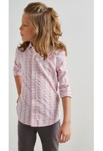 Camisa Mini Pf Textura Horizontal Inv 19 Reserva Mini Bordô - Kanui