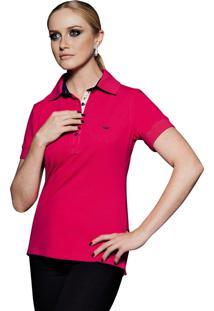 Camisa Pólo Azul Marinho Tradicional feminina  0a106651a1cee