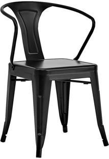 Conjunto Com 2 Cadeiras Tolix Com Braços Preto