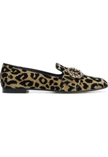 Dolce & Gabbana Slipper 'Jackie' De Couro - Metálico