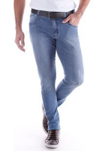 Calça Jeans Skinny Lavada 5 Bolsos Azul Indigo Traymon 2227