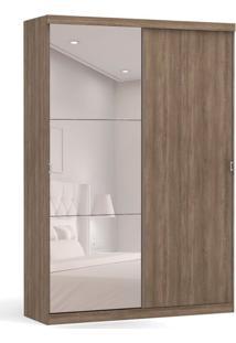 Guarda-Roupa Casal Com Espelho Smart 2 Pt 3 Gv Nogal