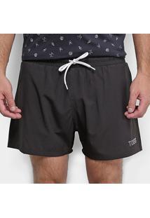 Short Toiss Bolso Masculino - Masculino-Preto