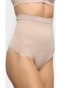 Calcinha Modeladora Trifil Cintura Alta Fio Dental - Feminino-Nude