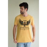 Camiseta D Affari Estonada Estampada Masculino - Masculino-Amarelo 51169a79980