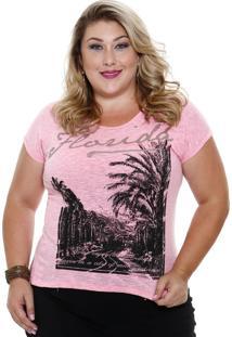 Blusa Feminina Estampa Coqueiro Plus Size Marisa