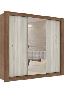 Guarda-Roupa Casal Com Espelho Boracéia 3 Pt 2 Gv Rustic
