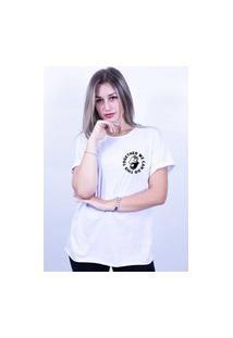 Camiseta Corte A Fio Bilhan Together We Can Do Pqn Branca