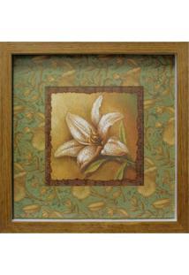 Quadro Caixa Open Flower Ii Natural 33X33 Cm Kapos
