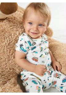 Calça Menino Estampada Rovitex Baby Bege