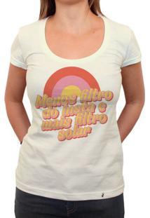Menos Filtro Do Insta, Mais Filtro Solar - Camiseta Clássica Feminina