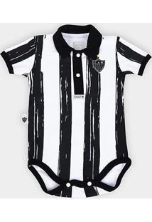 Body Bebê Atlético Mineiro Polo Listras - Masculino