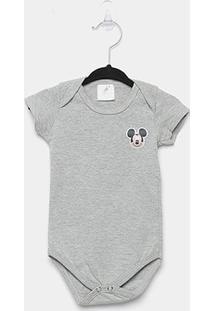 Body Infantil Marlan Básico Mickey Bebê - Masculino-Mescla