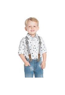 Camisa Tricoline Infantil Trick Nick Branco