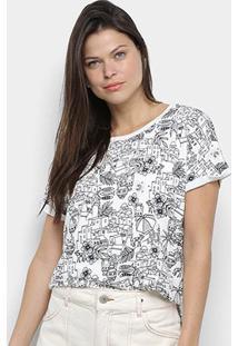 Camiseta Cantão Local Greek Full Feminina - Feminino-Off White