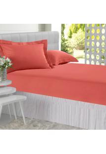 Lençol C/ Elástico All Design Mini Vermelho - Solteiro Vermelho Altenburg