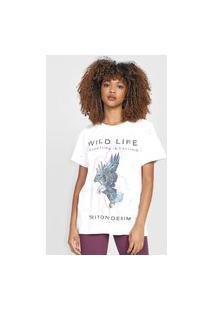 Camiseta Triton Destroyed Branca