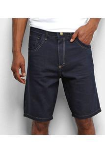 Bermuda Tbt Jeans Lisa Escura Masculina - Masculino-Azul