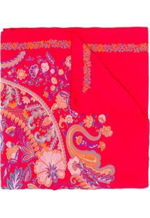 Etro Echarpe Com Estampa Paisley - Vermelho