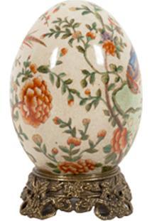 Ovo Decorativo De Porcelana Fiore