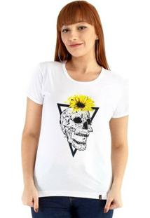 Baby Look Ouroboros Manga Curta Skullangle - Feminino-Branco