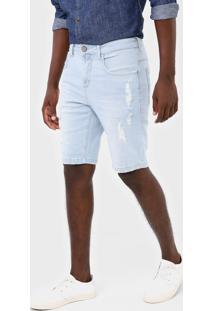 Bermuda Jeans Forum Slim Paul Azul - Kanui