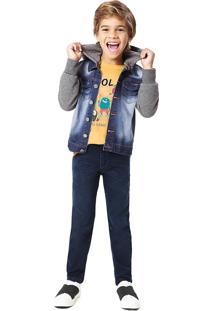 Jaqueta Jeans Matelassê Sustentável Menino Malwee Kids