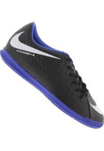 95f82b9043 Chuteira Futsal Nike Hypervenom X Phade Iii Ic - Adulto - Preto Azul