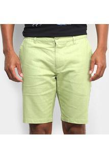 Bermuda Linho Colcci Masculina - Masculino-Verde