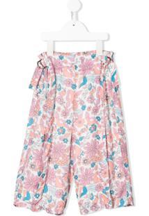 Chloé Kids Calça Com Estampa Floral - Branco