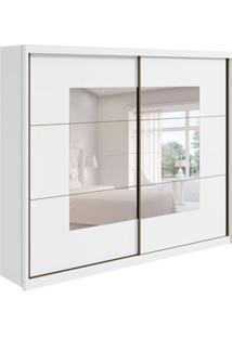 Guarda-Roupa Casal Com Espelho Toronto 2 Pt Branco