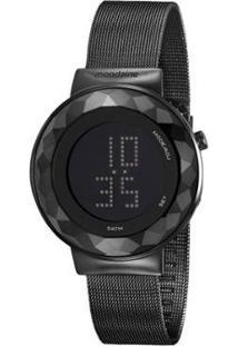 Relógio Mondaine Digital 42Mm Aço Feminino - Feminino-Preto