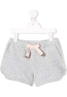Chloé Kids Jersey Shorts - Cinza