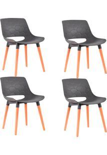 Kit 4 Cadeiras Decorativas Para Salas E Cozinhas Livclean (Pp) Cinza - Gran Belo - Cinza - Dafiti