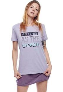 Camiseta Feminina Free As The Ocean Mormaii - Feminino