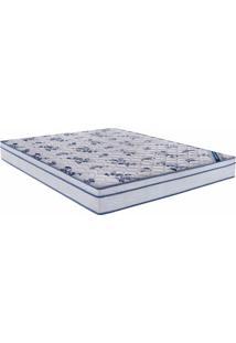 Colchao Comfort Pro Spring Casal 138 Cm (Larg) Branco E Azul - 43015 - Sun House