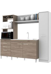 Cozinha Compacta Primavera Cs442 Noce/Off White Se