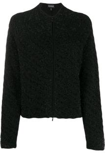 Emporio Armani Zipped Fitted Jacket - Preto