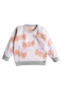 Casaco Suéter Ttricô Mini Lady Balinhas