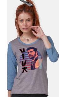 Camiseta Manga Longa Feminina Luan Santana Dvd Viva - Feminino