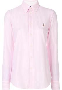 Polo Ralph Lauren Camisa Listrada - Rosa