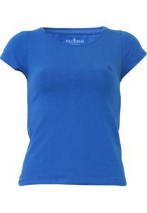 Camiseta Polo Wear Lisa Azul