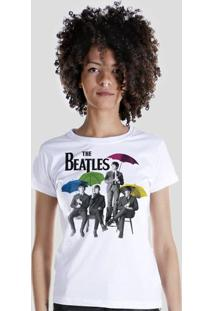 Camiseta Bandup! The Beatles Umbrella Colors - Feminino