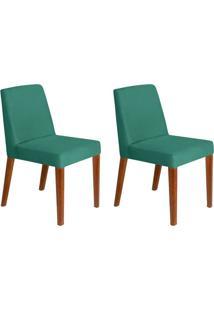 Conjunto Com 2 Cadeiras Infinity Veludo Verde