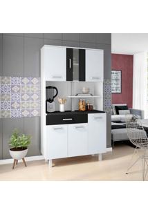 Cozinha Compacta Atenas 6 Pt 1 Gv Branca E Preta