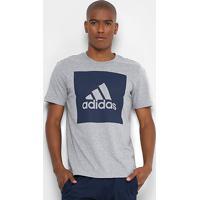 Camiseta Adidas Ess Biglogo Masculina - Masculino-Cinza 8a0b21794d674