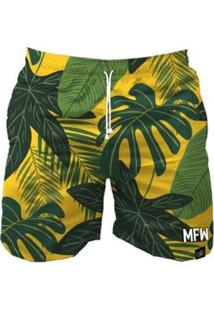 Bermuda Maromba Fight Wear Foliage Com Bolsos Masculina - Masculino-Verde
