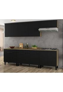 Cozinha Compacta Itamaxi I 11 Pt 3 Gv Preta E Castanho