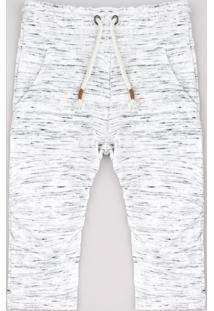 Calça Infantil Com Recortes E Cordão Off White