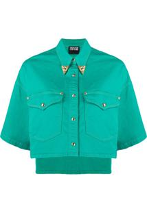 Versace Jeans Couture Jaqueta Jeans Cropped - Verde